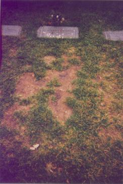 Sister Mafalda is buried on his right - Photo by Bob Graham, circa 1995