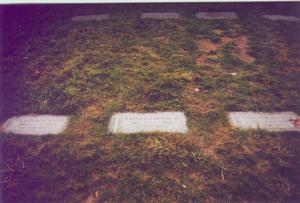 Other Capone family gravemarkers - Photo by Bob Graham, circa 1995