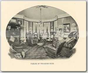 What a typical corner Lexington suite looked like at the time - Photo from MyAlCaponeMuseum.com