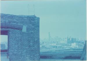 Looking northeast toward the Loop from the roof – Photo by Bob Graham, circa 1987