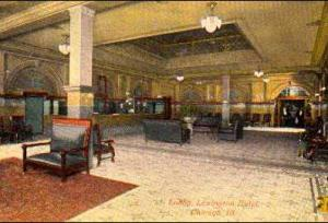 The lobby of the Lexington Hotel - Photo from MyAlCaponeMuseum.com