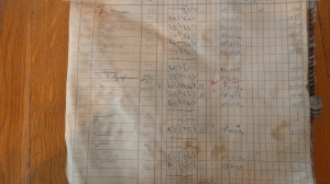 Libby, McNeill & Libby Pay Rolls for week ending November 18, 1922  - typical ledger page – Photo by Bob Graham, 2013