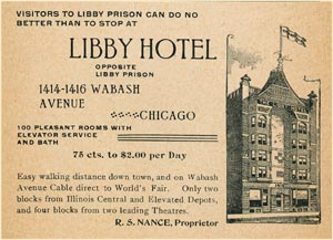 Libby Hotel - Photo from ChicagoHistory.org