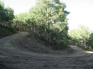 Switchback on lower Columbine